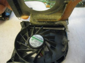 Inside of HP DV6000 Cooling Fan Assembly